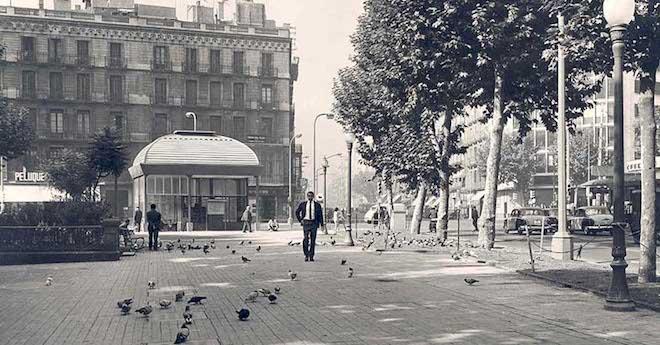 foto antigua metro barcelona