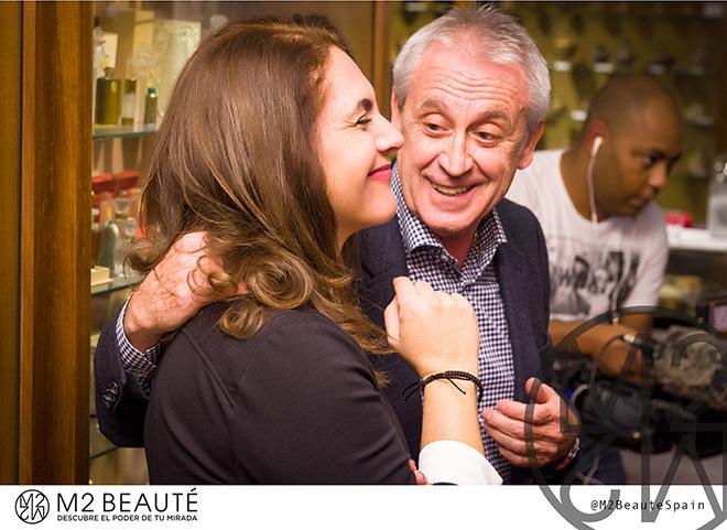 Luz Marina Lopera de M2Beauté con Francesc Planas i Giralt de Regia