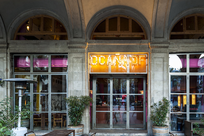 Ocaña Barcelona.Café, Terrace, Restaurant, Club, Apotheke