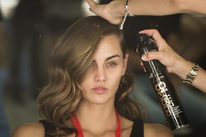 coleta peinado moda redken