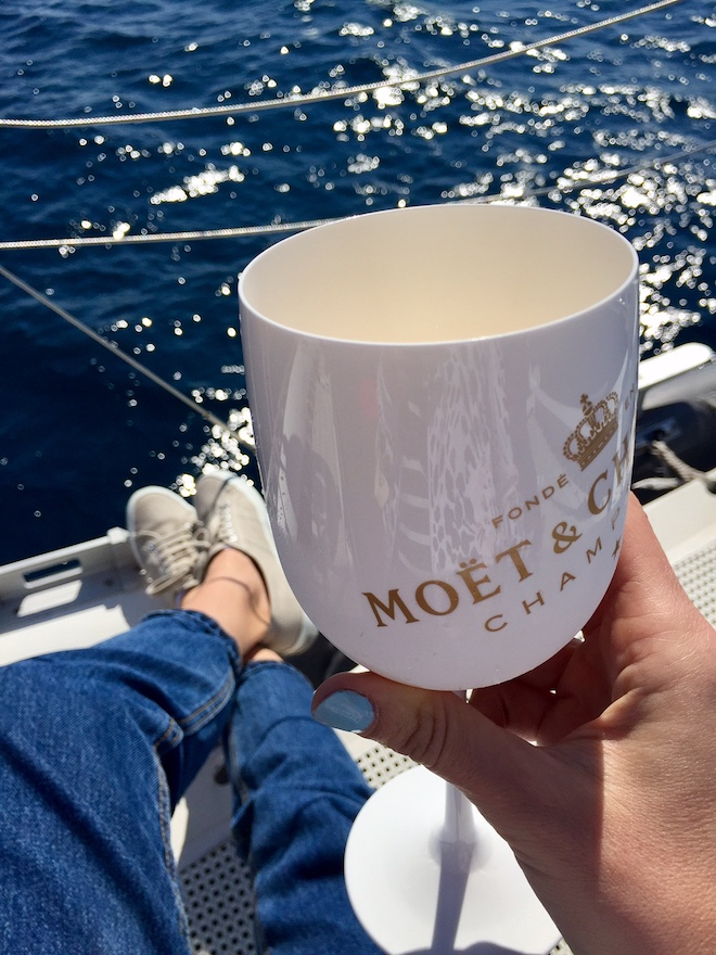 five star boat barcelona moet
