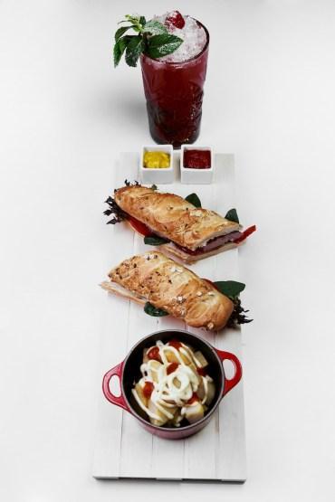 Butifarra con patatas bravas - maridaje Raspberry mojito