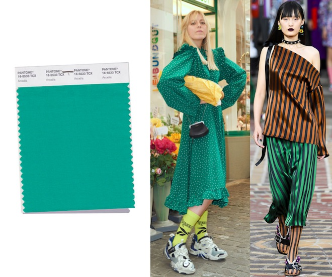 colores de moda primavera verano 2018 verde