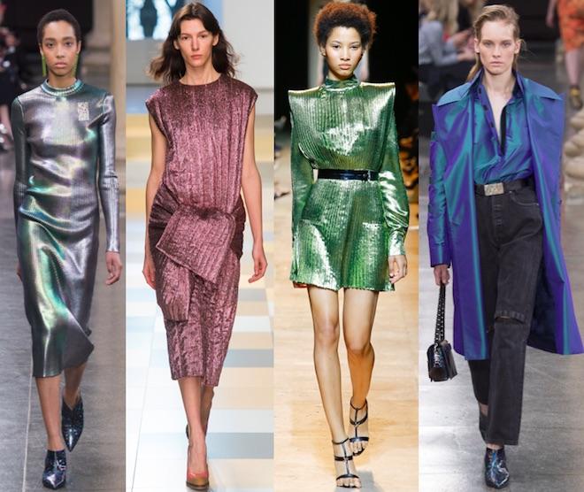 tendencias de moda invierno 2017 metalizados