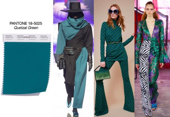 colores de moda otoño invierno 2018 Quetzal Green