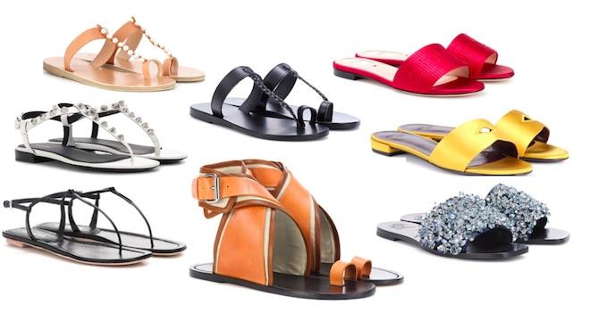 zapatos de moda primavera verano 2018 sandalias planas