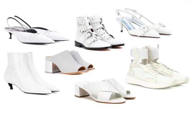 zapatos de moda pv18 white shoes