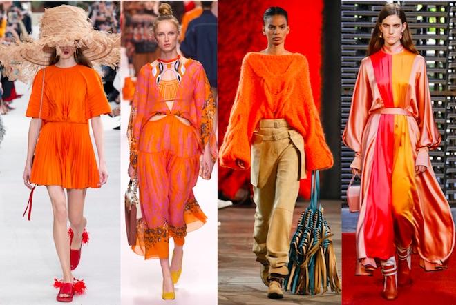 colores de moda primavera verano 2019 naranja