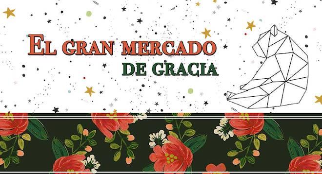 mercado navidad barcelona gracia