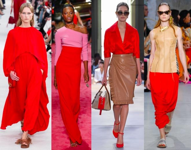colores de moda verano 2019 fiesta rojo