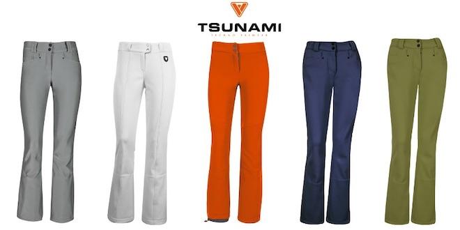 tsunami skiwer pantalones de esqui adjustados