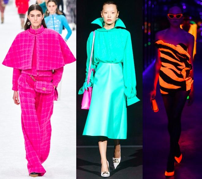 Tendencias moda invierno 2020 neon