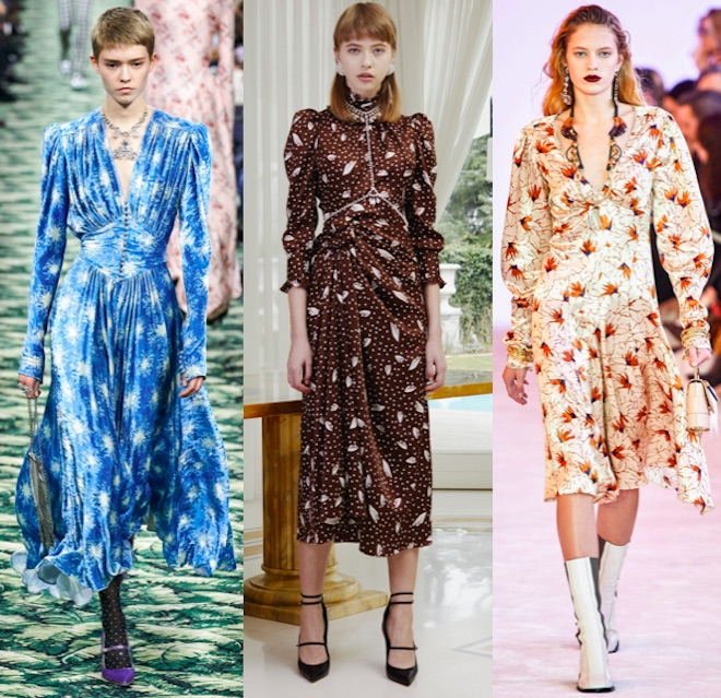 vestido midi moda invierno 2020