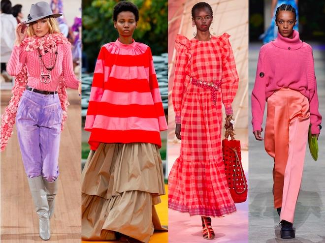 colores de moda verano 2020 rosas