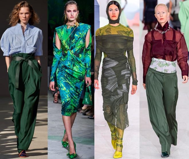 verde oscuro colores tendencia 2020