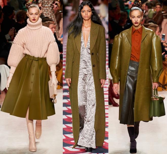 VERDE militar moda invierno 2020