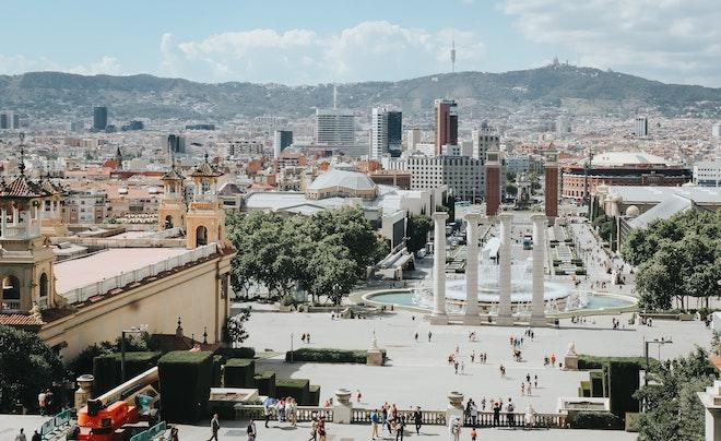 terraza con vista mnac barcelona