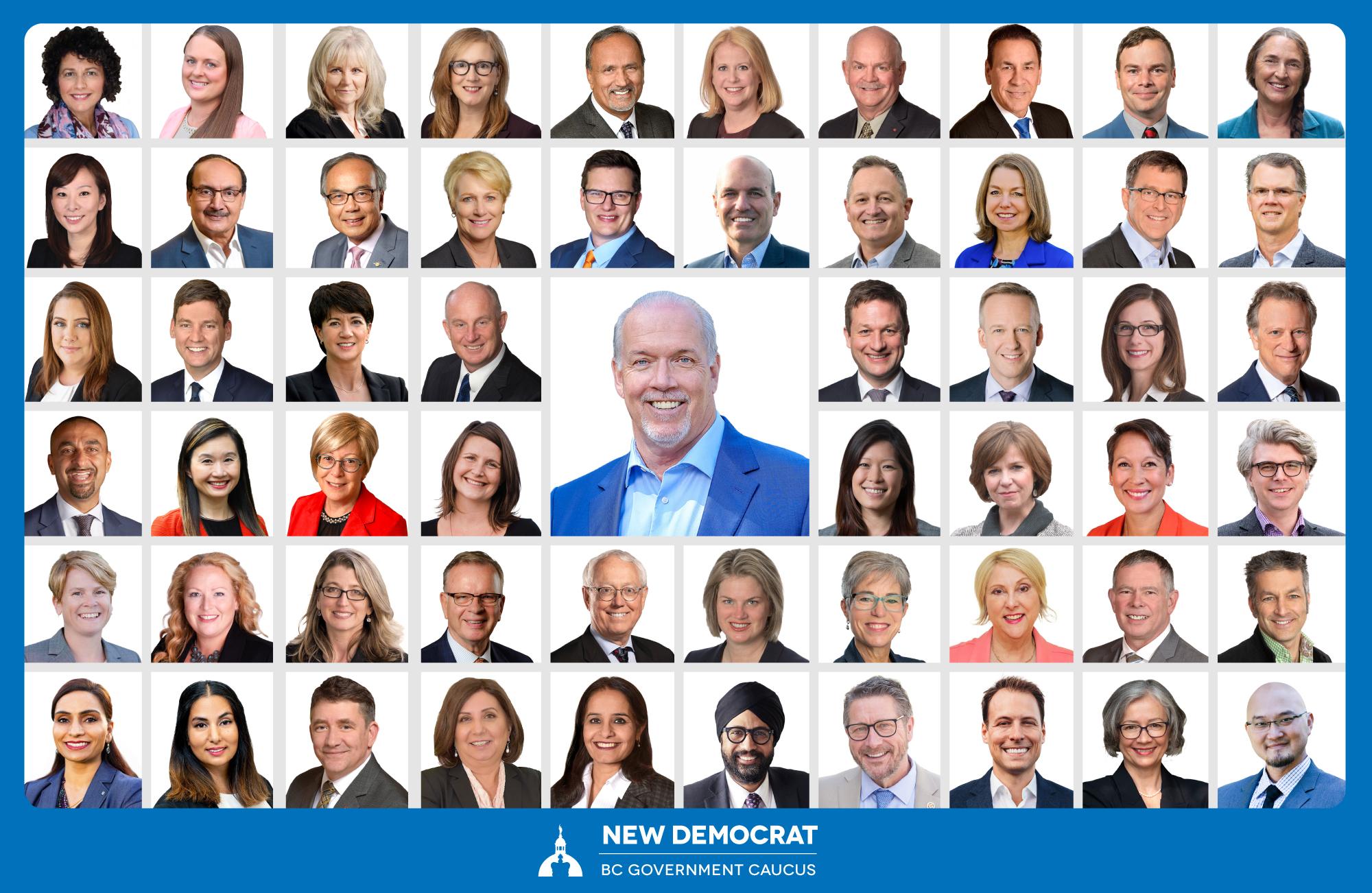 New Democrat BC Govt Caucus