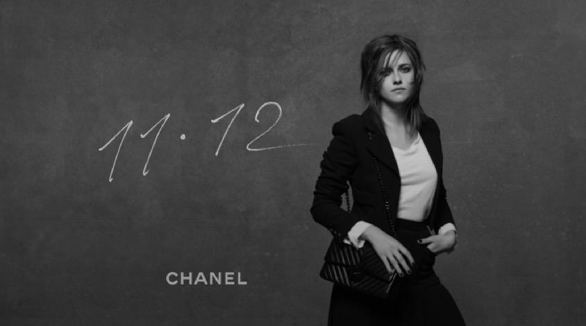 © Chanel. Kristen Stwart es la imagen de la campaña de lanzamiento del bolso Chanel 11.12
