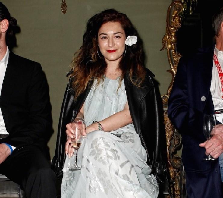 © Barcelona Bridal Week. La reconocida diseñadora Katharine Polk en el front row del desfile en el Palau Reial de Pedralbes.