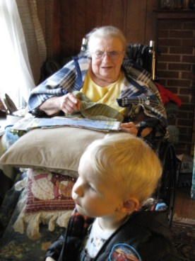 My son and my 93 year old grandma Reba