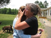 My mom embracing my younger sister who surprised us from TN