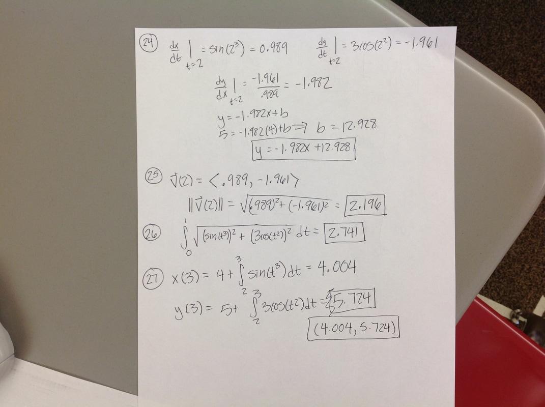Calculus Worksheet Keys