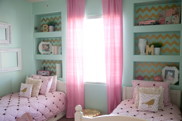 GOLD, PINK, AND VERY CHIC…Little Girls Bedroom Design » B ... on Beautiful:9Ekmjwucuyu= Girls Room Decoration  id=76568
