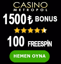 Casinometropol bonus tablosu