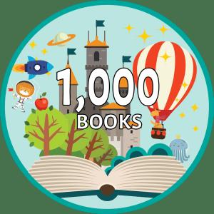 1,000 Books badge