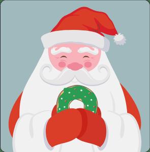 Santa with a Doughnut