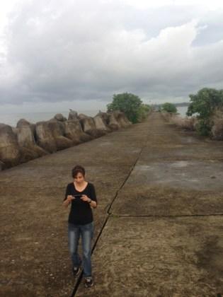 working-on-the-breakwaters-kollam-may-2013