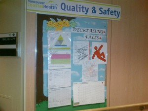 VGH falls prevention Quality & Safety board