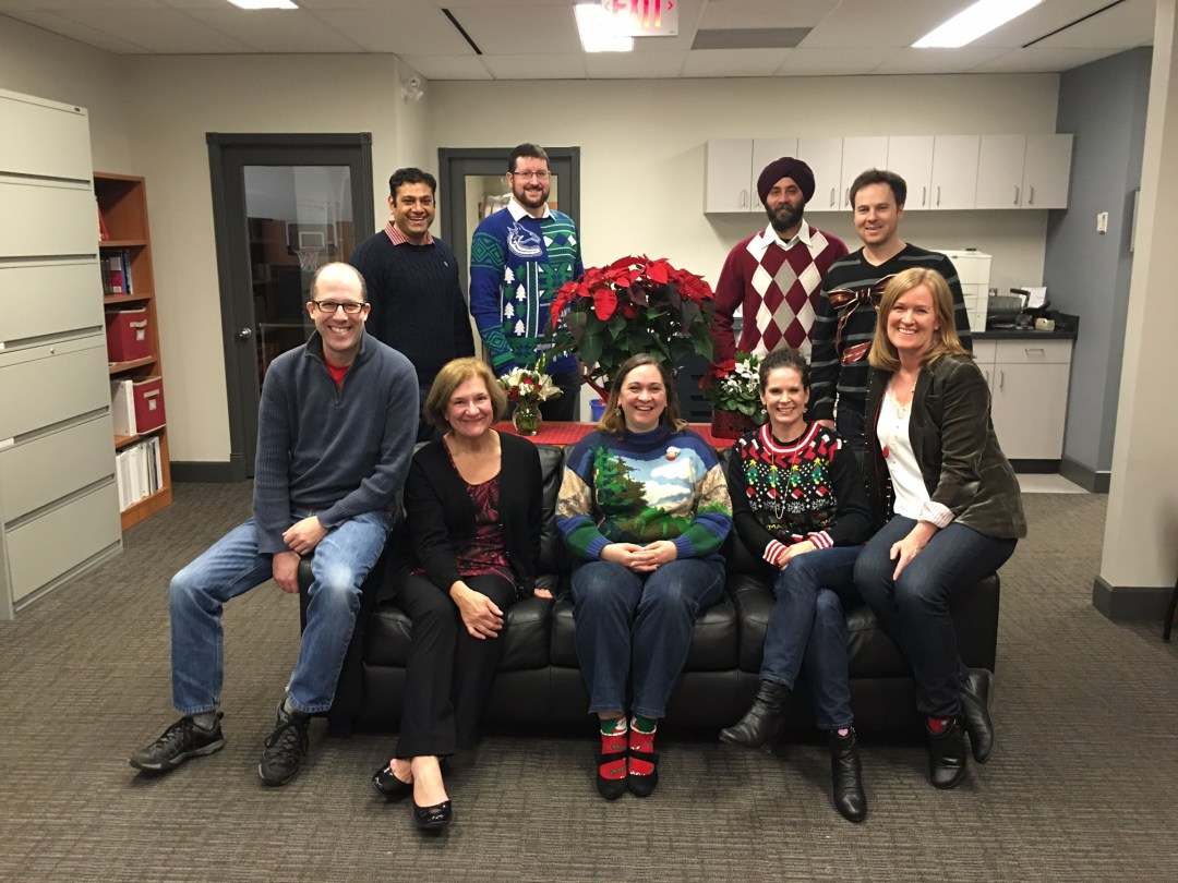The Central Office team (l to r): David, Jay, Anne, Martin, Catherine, Inderpal, Michelle, Jesse and Annemarie (missing: Sandra and Bev)