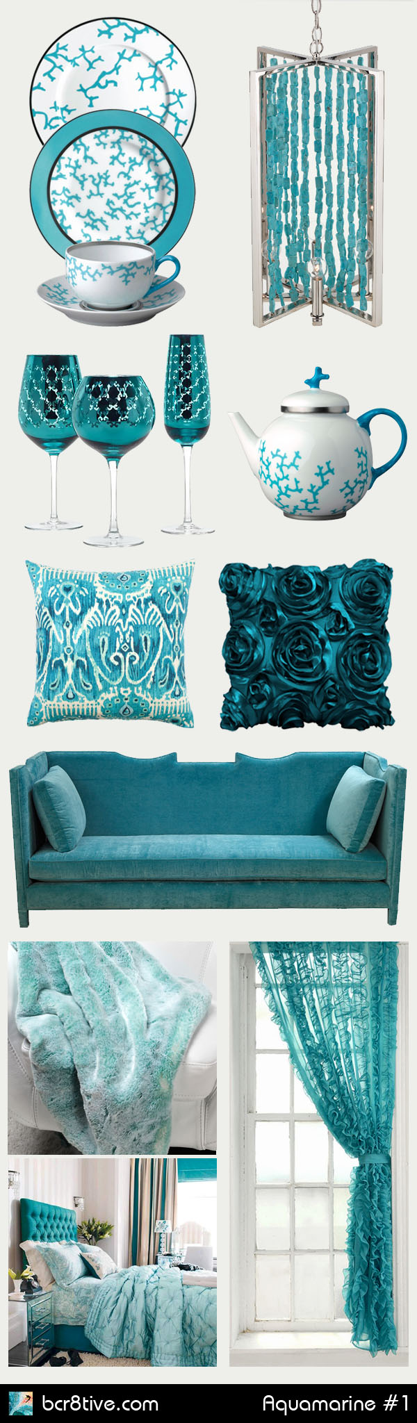 Home Decorating with Aquamarine & Turquoise - bcr8tive