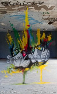 French Street Art Duo TSF Crew - Mask
