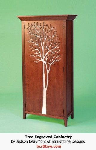 Judson Beaumont Furniture - Engraved Tree Cabinet