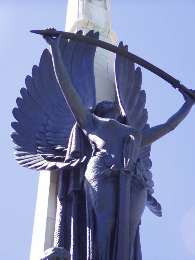 Angel statue from the Cathedral Square