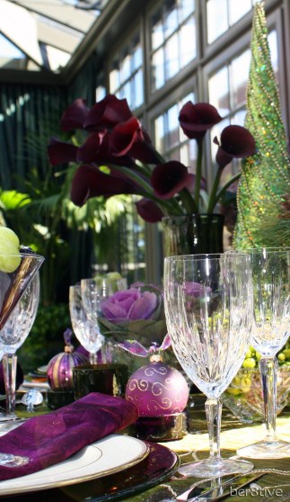 Creative Jewel Toned Holiday Table Decorating