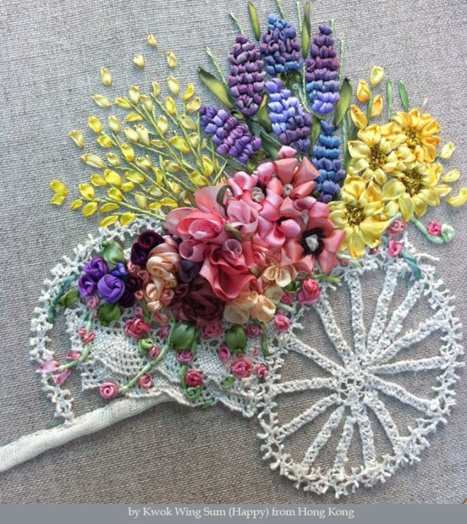 Ribbon Embroidery by Kwok Wing Sum