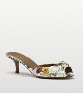 Gucci Holiday Flora Canvas Slide Sandal