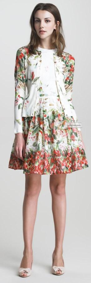 RED Valentino Strawberry-Print Cardigan & Cotton Dress