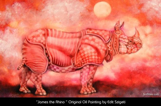 "Edit Szigeti's ""James the Rhino"""