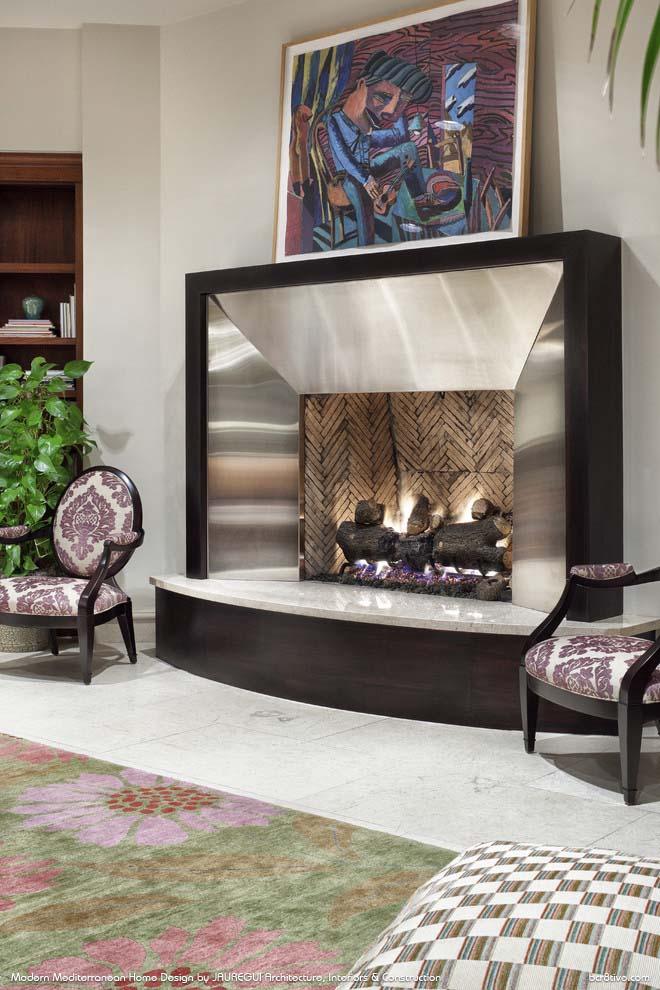 JAUREGUI Architecture, Interiors & Construction - Modern Mediterranean Living Room