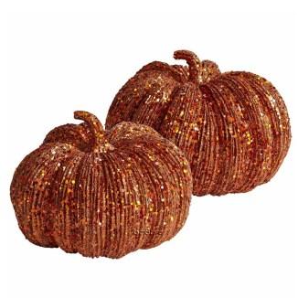 Fall Decorating - Glitter Pumpkins