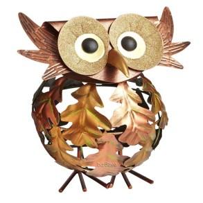 Fall Decorating - Leaf Owl Tealight Holder