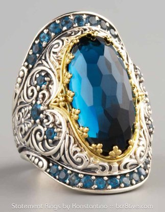 Konstantino London Blue Topaz Ring