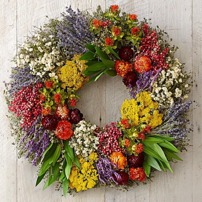 Williams Sonoma - Farmers' Market Herb Wreath