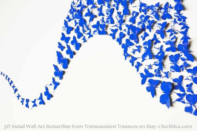 Handmade 3D Metal Wall Art Butterflies from Transcendent Treasure on Etsy