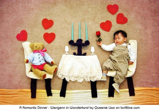 A Romantic Dinner - Creative Baby Photography by Sioin Queenie Liao